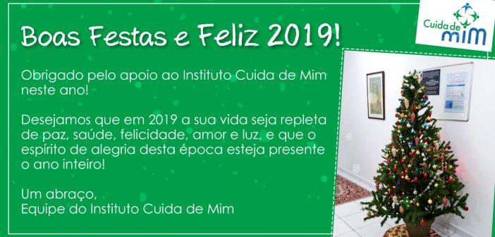 Boas Festas e Feliz 2019! | Instituto Cuida de Mim