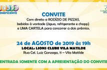 Bingo Beneficente e Noite da Pizza no Instituto Cuida de Mim