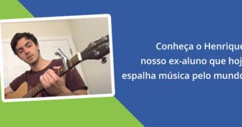 Conheça Henrique Ibane, ex-aluno que hoje é músico