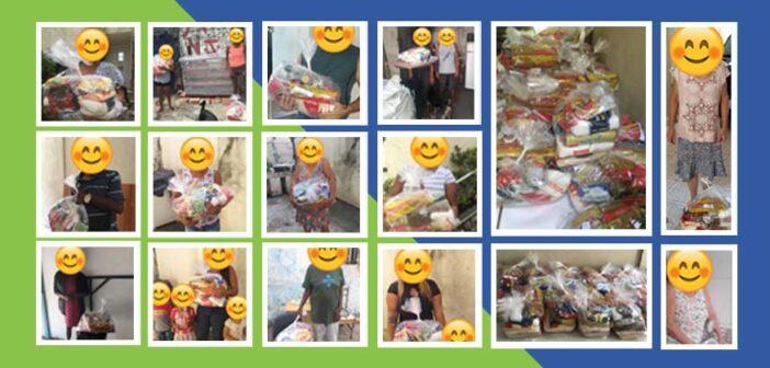Doação de cestas básicas para a comunidade